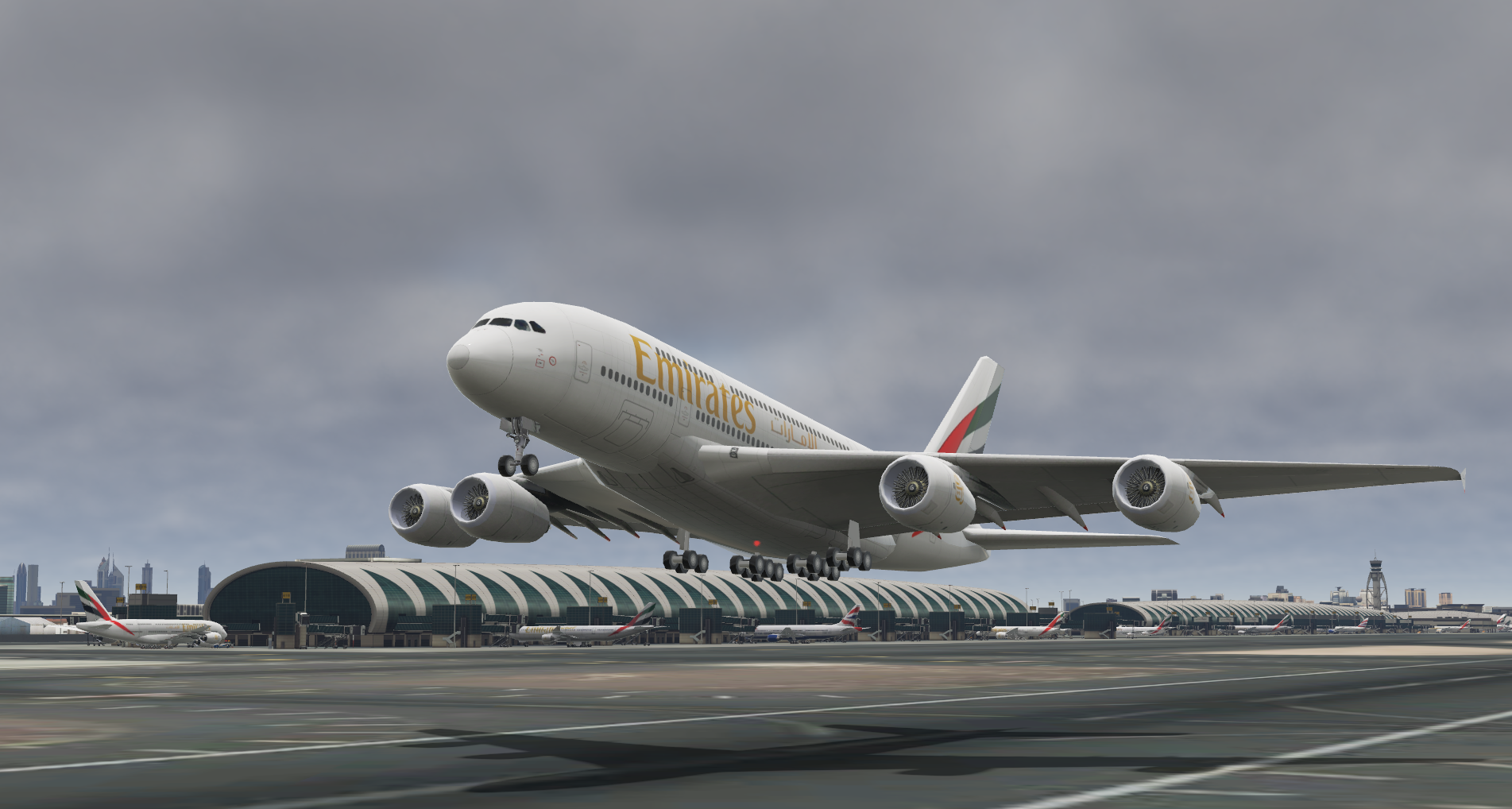 BEST 3D Tower image generator Emirates livery