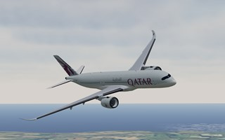 BEST 3D Tower image generator Qatar Airways livery