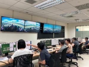 ATC simulator at Taiwan Air Navigation and Weather Services