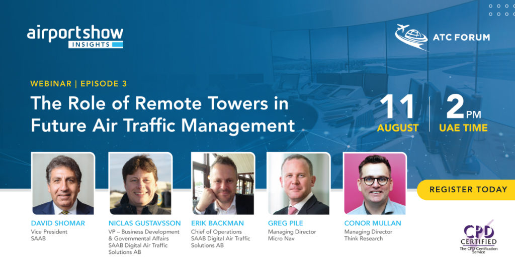 Webinar in The Role of Digital Remote Towers in Future Air Traffic Management