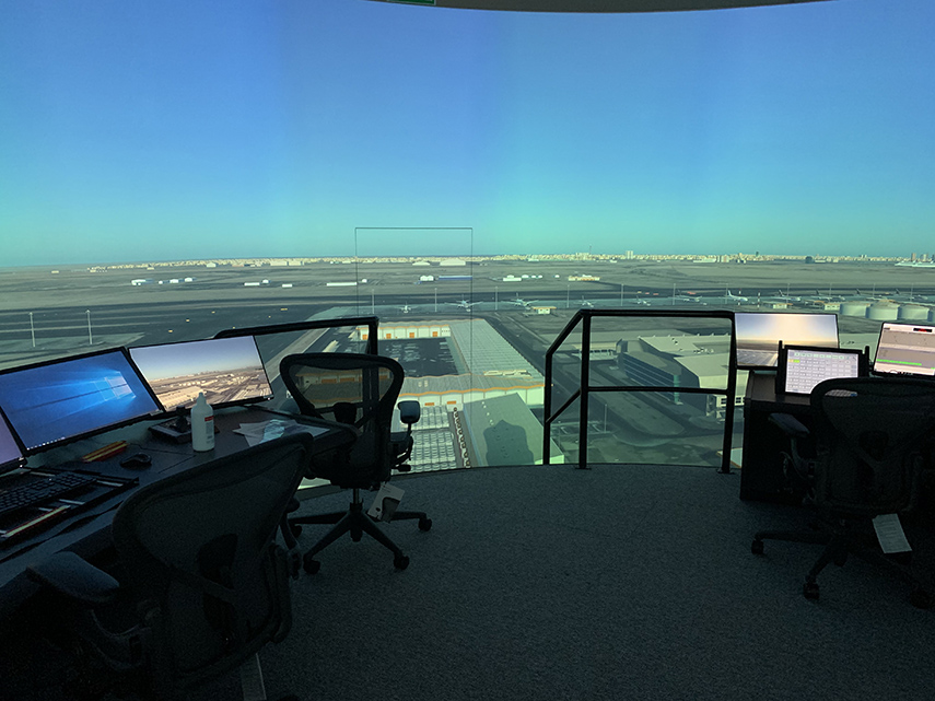 360-degree 3D Tower ATC Simulator at Qatar Civil Aviation Academy